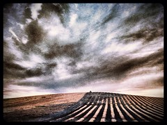 Getting ready to plant (shollingsworth) Tags: sky lines clouds landscape pretty farm hill farming rows brentwood planting hollingsworth brentwoodcalifornia iphoneography uploaded:by=flickrmobile flickriosapp:filter=nofilter