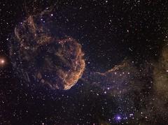 NGC 443 The Jellyfish Nebula HST Palette (Chuck Manges) Tags: sky stars jellyfish space ngc telescope nebula astrophotography astronomy ha deepspace hst sii oiii refractor 102mm nebulosity ic443 narrowband Astrometrydotnet:status=solved hubblepalette Astrometrydotnet:version=14400 qhy9m ed102t germanequatorial Astrometrydotnet:id=alpha20130361150136