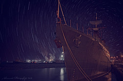 HMCS Haida (Corrie Brookhouse (ADORNMENT PHOTOGRAPHY)) Tags: longexposure winter lake ontario canada night ship hamilton wideangle startrails haida hfg hmcs nikond7000 nikon1024mm adornmentphotography