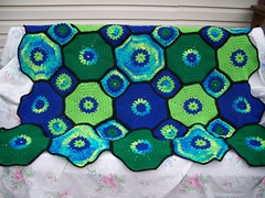 bluengreen O&S afghan completed (The Crochet Crowd) Tags: square spring squares crowd crochet mikey blanket afghan redheart challenge throw octagon freepattern 2013 freecrochetpattern crochettutorial thecrochetcrowd crochetcrowd octogonsquareafghan