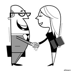 Shaking hands cartoon illustration. (almaes2009) Tags: friends two people white black male men sign businessman illustration work person corporate office team hand friendship employment background unity union meeting professional communication business suit company human together trust deal shake handshake contract concept gesture job success greeting partnership vector partner isolated cooperation finance agree teamwork pact agreement successful