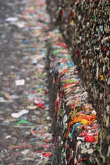 Gum. (MeredithAmy) Tags: seattle color texture wall contrast gum washington pattern place market bokeh sticky gross narrow depth the