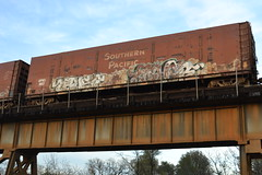 (huntingtherare) Tags: railroad trestle bridge train graffiti trust freight northbound abhor rollingstock benching