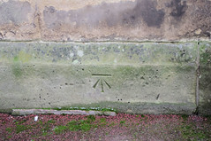 Benchmark on Much Wenlock church (wandererjon) Tags: church holytrinity benchmark ordnancesurvey muchwenlock cutmark