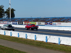 Here They Come (TogerBerd) Tags: cars drag iron plymouth racing chevy sacramento worm roadrunner raceway