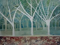 Negative space 02, by Catie (Dona Mincia) Tags: tree art watercolor painting paper branch negativespace study rvore galho aquarela espaonegativo