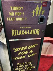 Relax-A-Lator! - Las Vegas, NV (tossmeanote) Tags: old feet up relax hall hit hurt no fame young machine step cents 25 tired pinball shake pick pep fit vibrate iphone deposit vibrating 2013 relaxalator tossmeanote