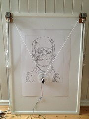 Frankie () Tags: vertical pen frankenstein frame vector a2 plotter arduino drawbot polargraph