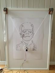 Frankie (ÆØÅ) Tags: vertical pen frankenstein frame vector a2 plotter arduino drawbot polargraph