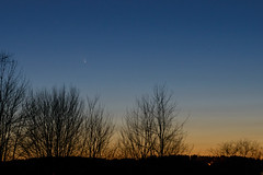 Comet PanSTARRS (maine_mike) Tags: sunset sky night march maine astronomy comet d800 2013 panstarrs