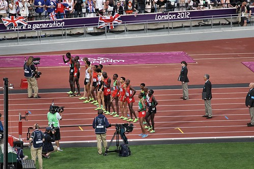 Introduction of competitors for the Men