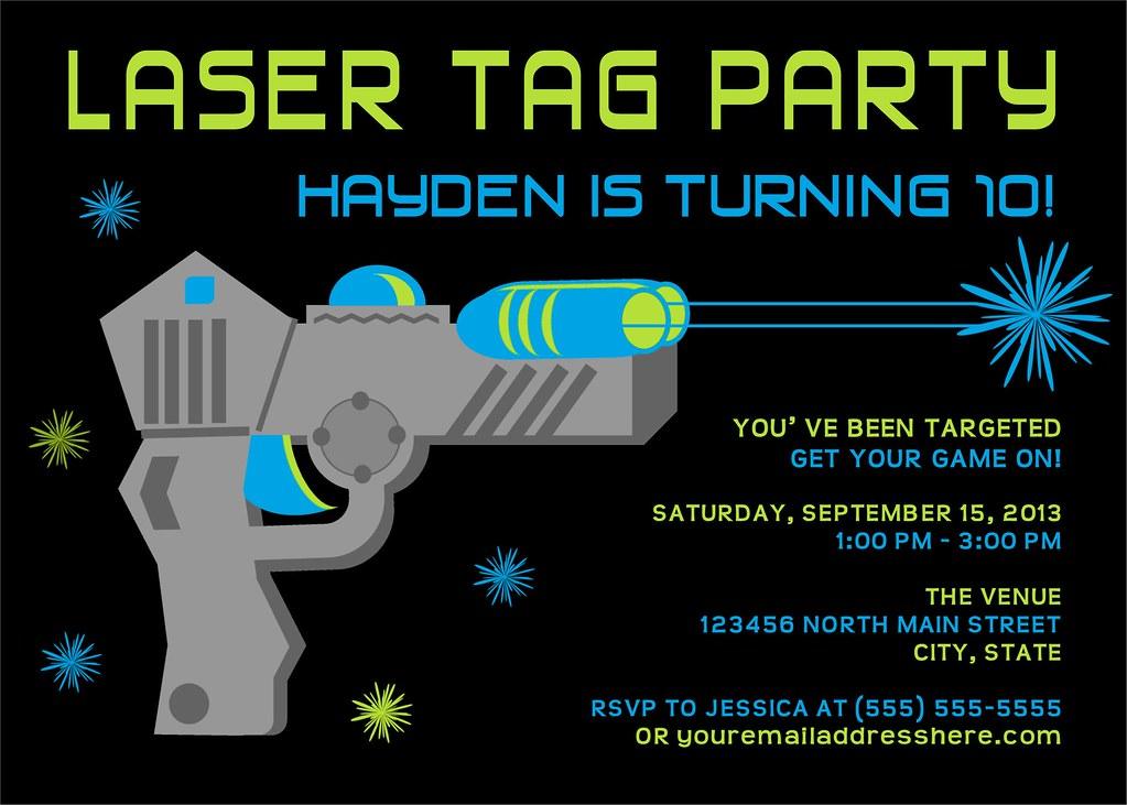 Charming Laser Tag Birthday Invitations Free Printable Gallery ...