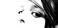 Les yeux de Laura * (lausend) Tags: portrait blackandwhite laura art look photography photo eyes foto photographie arte image noiretblanc kunst picture yeux panasonic occhi ojos fotografia bild blick imagen regard immagine buscar guardare schauen enblancoynegro inbiancoenero gandrille tz10 schwarzundweib lausend