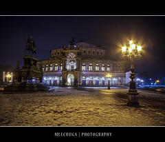 Dresden by Night - The Semperoper (MLechuga Photography) Tags: world life street new old city travel bridge blue trees light boy sunset red portrait sky people blackandwhite italy music orange usa sun mountain lake snow man black mountains flower macro tree green london castle art fall cars church nature colors girl rock architecture night clouds digital forest canon reflections germany landscape photography eos dresden is photo europe action bokeh sigma wideangle chrome 7d summertime usm dslr canoneos hdr kaiserslautern intheair catherdal