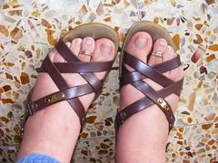 DSCF0470 (sandalman444) Tags: male feet sandals painted nail polish nails mens toenails pedicures toerrings