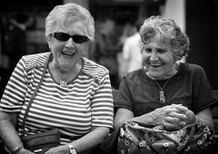 Brenda & Olive #17 & #18 100 Strangers (Just Ard) Tags: woman laughter brenda olive people person face street photography black white mono monochrome bw blackandwhite noiretblanc biancoenero schwarzundweis zwartwit blancoynegro  justard nikon d750 85mm 100strangers