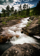 Underrusfossen || 1 (andreasfrossberg) Tags: landscape landscapes norway norge river water summer nature canon canon6d telemark underrusfossen longexposure