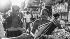 Flower Bazaar, Chennai (Velachery Balu) Tags: motoxplay chennai flowerbazaar pachaiyappahall kinggeorgev flowerseller jasmineflowers nscboseroad