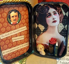 E.A. Poe Shrine (janski48) Tags: swapbot eapoe edgarallanpoe alteredaltoidtin poet