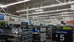 Rear Wall Overview (Retail Retell) Tags: hernando ms walmart desoto county retail project impact supercenter store 5419 interior remodel black dcor 20 icons