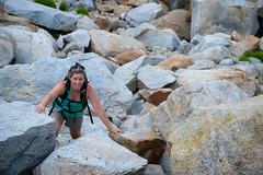 off piste (Ben McLeod) Tags: california nikki yosemite hiking mybeautifulwife roadtrip rocks scree