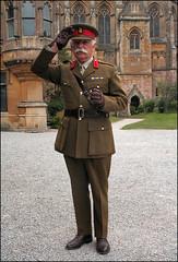 Brigadier Salutes Major (Canis Major) Tags: brigadiergeneral salute army uniform major tyntesfieldhouse worldwari moustache