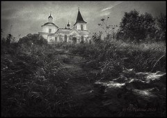 The path to the temple of the Resurrection. (odinvadim) Tags: graphic landscape iphoneart textured iphone sunset iphoneography iphoneonly evening textures instapickskyart editmaster old church