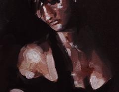 Detalle S/t. leo s/cartn. 28 x 28 cm. 2016 (Tata Monie) Tags: arte argentina leo oil mujer sexy pintura popart paintings erotic