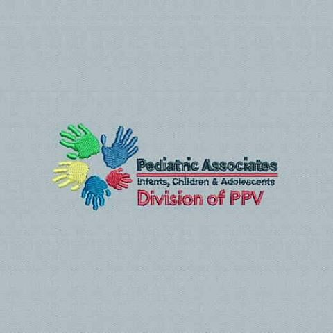Digitized #pediatricassociates - true flat rate embroidery digitizing - prices start at $5.99 per design.  Email your artwork in pdf, jpg or png format to indiandigitizer@gmail.com.  www.IndianDigitizer.com  #FlatRateEmbroideryDigitizing #Indiandigitizer
