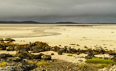 Stormy Skies (Mirrored-Images) Tags: coast colour landscape light nature northuist outdoor outerhebrides rocks scotland sea seaweed sky stormclouds water