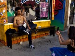 Kensington Market (- Jacques) Tags: toronto street kensington people topless posing lx5