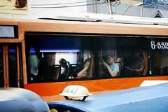 SLEEPING GIRL (Nutthanun Plongphan) Tags: trafficjam sleepinggirl thaigirl fujifilmxt10 mirrorless bangkok thailand streetphotography thaibus thaitransportation rushhour