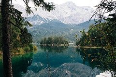 the island (thedecentexposure) Tags: eibsee deutschland isand mountains berge lake bayern alpen partenkirchen zugspitze breathtaking traveling garmisch destination reisen travel europe insel germany