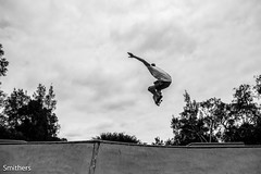 Jack - Melon (SmithersImages) Tags: trees white black clouds canon skateboarding air pipe skate 7d quarter melon 1585mm