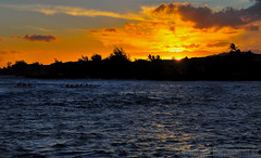 Koloa Sunset (jlindhardt) Tags: ocean sunset water clouds photography nikon pacific canoe kauai poipu koloa outrigger d300 lindhardt