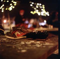 Ice Skating at night (Raf Ferreira) Tags: snow ontario canada 6x6 ice coffee night rolleiflex pub williams kodak skating hamilton 400 medium format 28 rafael portra hfg ferreira peixoto 28c