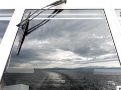 Reflection (dreifachzucker) Tags: november digital germany deutschland schweiz switzerland suisse bodensee fhre 2012 ferryboat lakeconstance 14mmpancake 14mmf25 panasoniclumixgf2 november25th2012 romanshornfriedrichshafen