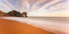 Durdle Door Panorama (paulwynn-mackenzie.co.uk) Tags: longexposure sunset bw seascape coast arch le dorset durdledoor 10stop nd110