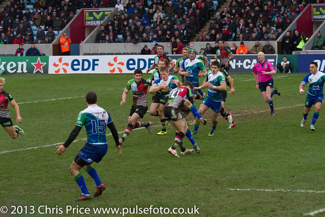 Tom Williams with the tackle