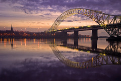 A moment of clarity.... (Chrisconphoto) Tags: uk bridge church reflections hightide runcorn merseyside widnes goodlight