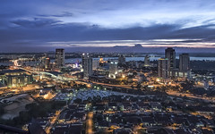 Johor Bahru from Pacific Mall Tower (Sarmu) Tags: city light sunset wallpaper urban building skyline architecture night skyscraper lights twilight highresolution asia downtown cityscape view skyscrapers nightshot dusk widescreen 1600 malaysia highdefinition resolution 1200 jb cbd hd bluehour wallpapers 1920 johor causeway 2012 vantage johorbahru vantagepoint ws 1080 1050 pacificmall 720p 1080p urbanity 1680 720  2560 johorbaru johorebahru  johorbaharu  tambakjohor sarmu    pacificmalltower