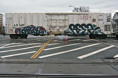 SWEAR  REEZ (TRUE 2 DEATH) Tags: railroad train graffiti fb tag graf ant trains railcar kfc railways railfan freight swear reefer freighttrain rollingstock armn gtl benching reez freighttraingraffiti allnation