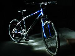 Painted Trek (coondawg_97 (AKA CrookedNose)) Tags: lightpainting trek olympus bicycles zuiko 820 vanguard e510 1442mm