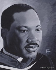 Martin Luther King (erictfrancis) Tags: portrait art painting king acrylic martin mlk luther