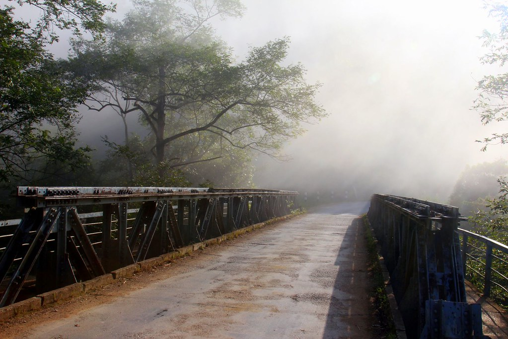 Misty bridge, Sam Neua, Northern Laos