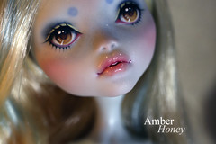 Lagoona Blue (Amber-Honey) Tags: blue monster skull amber high doll ooak honey custom shores mattel repaint lagoona