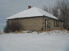 The Stone House Or Stone Cold ?  - Prairie Travels (Mr. Happy Face - Peace :)) Tags: old morning winter sky sun snow canada building history abandoned ice smile architecture clouds farmhouse vintage reflections season landscape countryside sandstone farmland alberta northamerica homestead prairies backroads deteriorated stonehouse pioneerdays jimmyb 2013 mrhappyface mildday reddeercounty antologiapoetica chinookweather ourlifeourworld