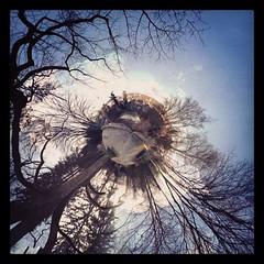 Planet Heiligberg  mit der Stadtkirche und dem roten Turm... (mattschthe2nd) Tags: roterturm tinyplanet kugelpanorama swisscomtower heiligberg stadtkirchewinterthur