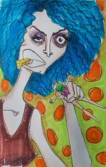 nhaaagh! (-Meelow-) Tags: lady crazy doll head barbie marker boneca ilustração louca cabeça marcador hidrocor headeater