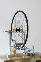 Riktstll (Christofer Salestam) Tags: bike cycling nikon sweden sverige malm roadrace roadbike cykel d800 chrisking hjul wheelbuilding truingstand mssing rostfritt cykelhjul